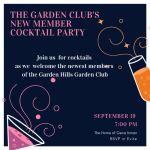 The Garden Club's New Member Cocktail Party